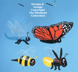 Bug Wind Mobiles Woodcraft Pattern