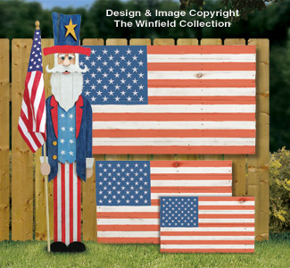 Pallet Wood Flags & Uncle Sam Pattern Set