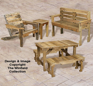 Pallet Wood Furniture Set