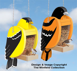 Goldfinch & Baltimore Oriole Shaped Feeder Set