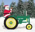Deere Santa #2 and Tractor Pattern Set