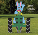Waving Bunny & Tractor Pattern Set