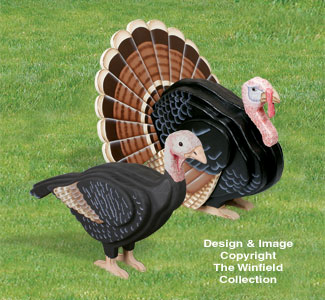 3D Life-Size Turkeys Pattern Set