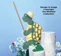 Fishing Turtle Woodcraft Pattern
