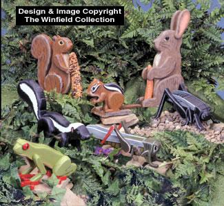 Garden Critters Woodcraft Pattern