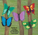 Giant Bright Butterflies Wood Pattern