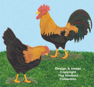 Yard Poultry Woodcrafting Pattern