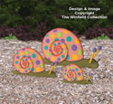 Garden Snails Woodcraft Pattern