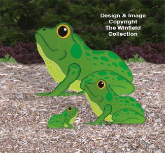 Yard Frogs Woodcraft Pattern
