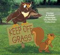 Keep Off Grass!  Wood Pattern