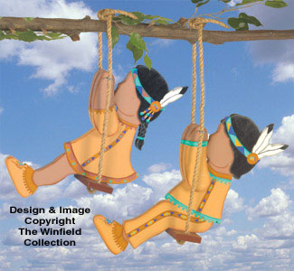 Swinging Indian Kids Pattern
