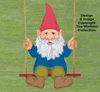 Swinging Gnome Wood Pattern