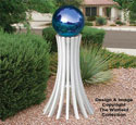 Gazing Ball Stand #1 Woodcraft Pattern