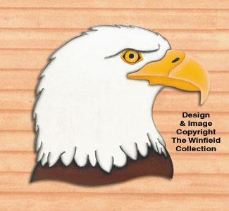 Giant Eagle Head Woodcraft Pattern