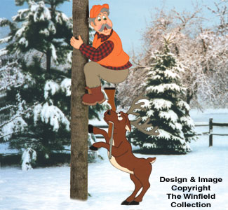 Hunter & Deer Woodcraft Pattern