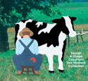 Farmer Milking Cow Woodcraft Pattern