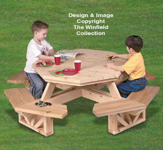 all yard garden projects kid 39 s octagon picnic table woodworking pattern. Black Bedroom Furniture Sets. Home Design Ideas