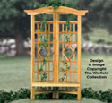 Corner Trellis Bench Woodworking Plan