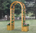 Arched Trellis W/Planters Wood Plans