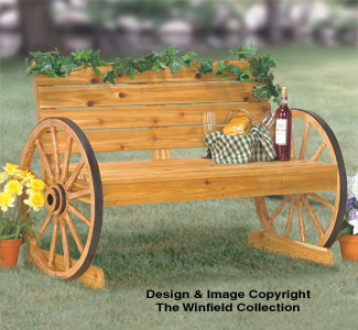 Wagon Wheel Bench Wood Project Plan
