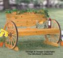 Wagon Wheel Bench Wood Project Plan