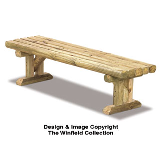 Landscape Timber Bench Woodworking Plan