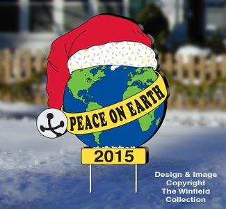 All christmas peace on earth yard sign wood pattern for Christmas yard signs patterns