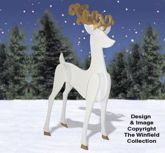 3D Shadow Reindeer Pattern