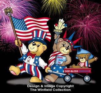 Beary Patriotic Family Pattern