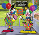 Birthday Clowns Color Poster