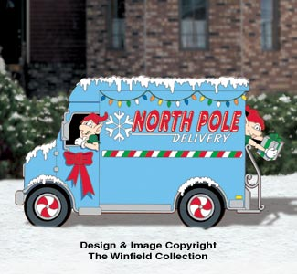 North Pole Delivery Truck Pattern
