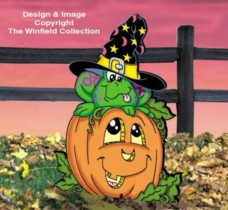 Pumpkin Patch Frog Pattern