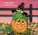 Pumpkin Patch Frog Color Poster