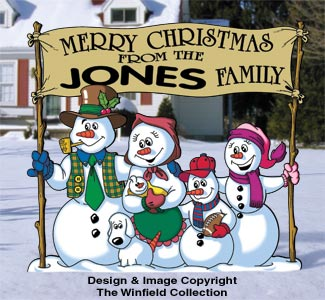Snow Family Greeting Pattern