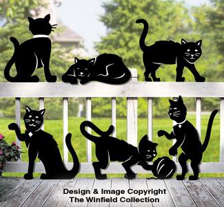 Feline Friends Shadow Pattern
