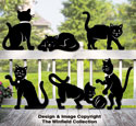 Feline Friends Shadow Pattern