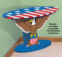 Oval Eagle Table Pattern