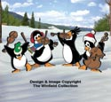 Musical Penguins Pattern Set
