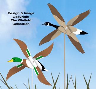 Mallard and Goose Whirligig Pattern Set