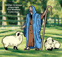 Great Shepherd and Lambs Pattern Set