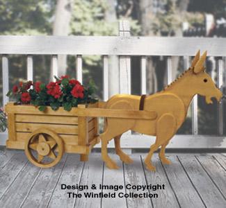 Garden Donkey and Cart Pattern Set