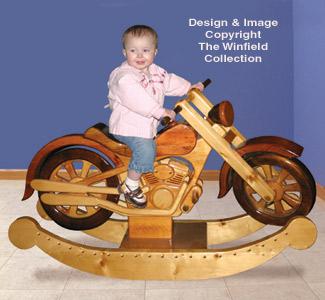 Rockers roarin 39 rocker woodworking plans for Woodworking plan for motorcycle rocker toy