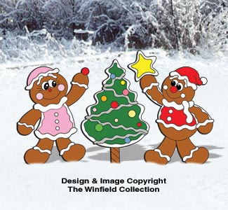 Gingerbread Tree and Kids Pattern