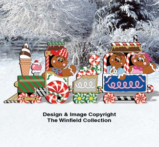 Gingerbread Train Pattern