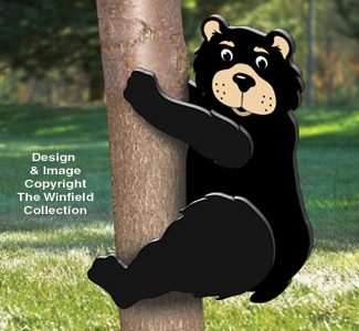 3D Climbing Black Bear Pattern