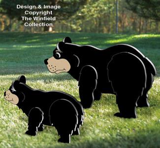 3D Black Bear Family Pattern