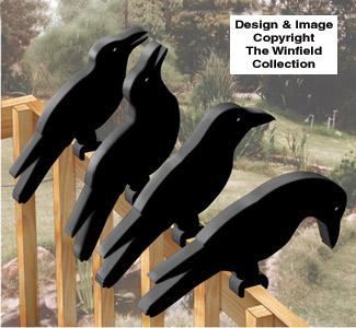 Crow Shadow Rail Sitters Pattern