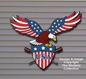 Patriotic Eagle Color Poster