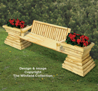 Landscape Timber Garden Bench Plan