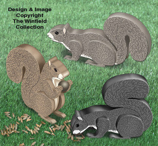 3D Squirrels Pattern